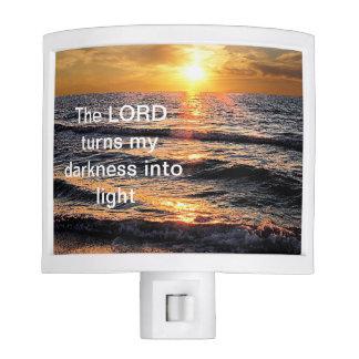 Luz temática de la noche de la playa inspirada