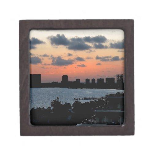 Luz temprana de la ciudad del cielo cajas de regalo de calidad