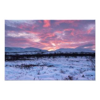 Luz temprana del invierno en Abisko Suecia Fotografía