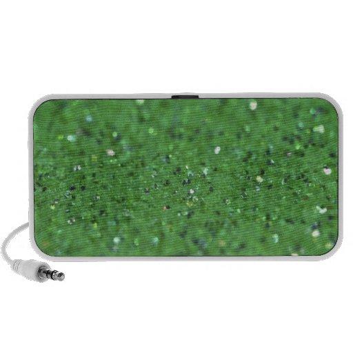 Luz tenue del verde del día de fiesta iPod altavoz