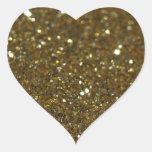 Luz tenue pura del oro calcomanías de corazones