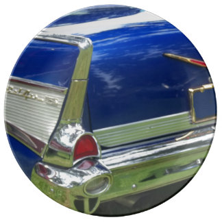 Luz trasera lateral azul y del blanco 57 de cola platos de cerámica