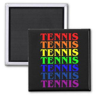 Luz u oscuridad del arco iris del tenis del imán