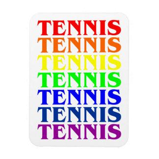 Luz u oscuridad del arco iris del tenis del imán d