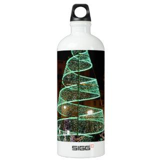 Luz verde del árbol de navidad