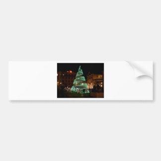 Luz verde del árbol de navidad pegatina para auto