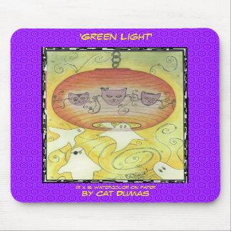 """""""Luz verde"""", mousepad con arte por el gato Dumas,… Alfombrillas De Raton"""