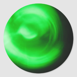 Luz verde pegatina redonda
