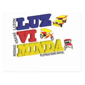 Luz-vi-Minda - Luzon Visayas Mindanao - Pilipinas Postcard