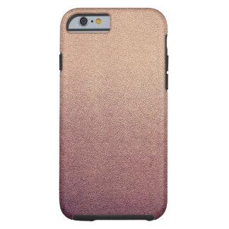 Luz visual de Ombre de la textura del oro de la Funda De iPhone 6 Tough