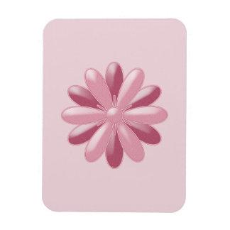 Luz y cabeza de flor rosada oscura imán flexible