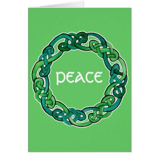 Luz y Knotwork circular verde oscuro Tarjeta De Felicitación