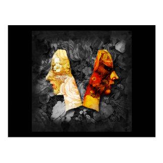 Luz y oscuridad 3 postales del collage de Digitace