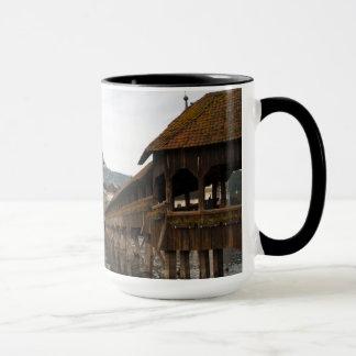 Luzern Kappelbrücke Kaffeetasse Taza