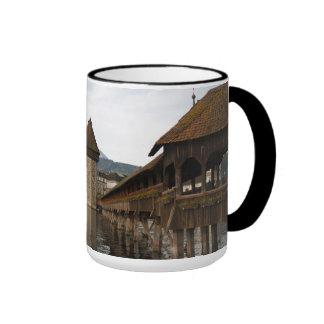 Luzern Kappelbrücke Kaffeetasse Taza A Dos Colores