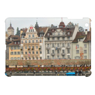 Luzern Old bridge and Houses on the waterfront iPad Mini Cases