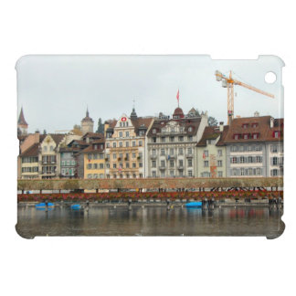Luzern Waterfront buildings and bridge Case For The iPad Mini