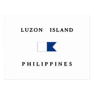 Luzon Island Philippines Alpha Dive Flag Postcard
