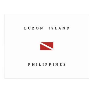 Luzon Island Philippines Scuba Dive Flag Postcard