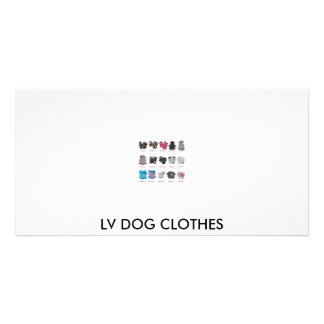 LV DOG CLOTHES PERSONALIZED PHOTO CARD