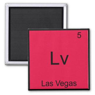 Lv - Las Vegas City Chemistry Element Symbol Tee Fridge Magnet