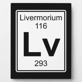 Lv - Livermorium Plaque