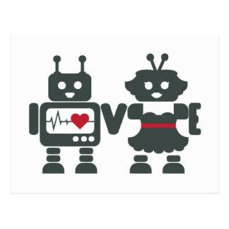 LV - Robots - amor Tarjetas Postales