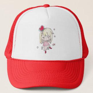 lValentine's Day print of love sick chibi girl Trucker Hat