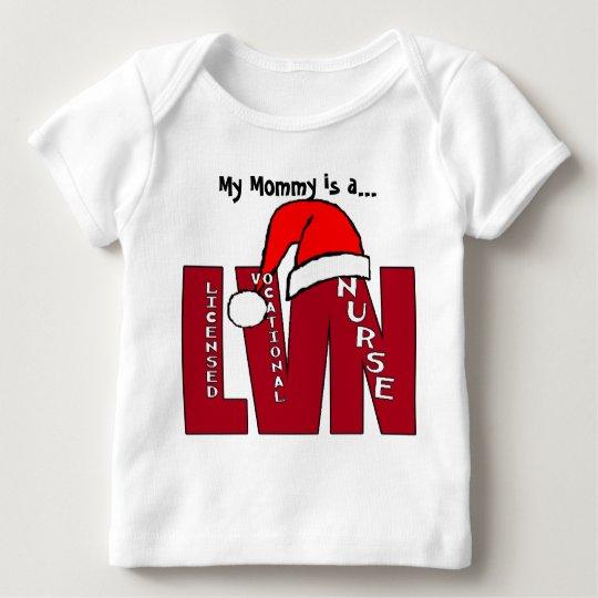 LVN Big Red SANTA LICENSED VOCATIONAL NURSE Baby T-Shirt