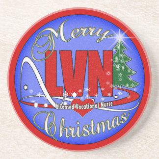LVN CHRISTMAS COASTERS LICENSED VOCATIONAL NURSE