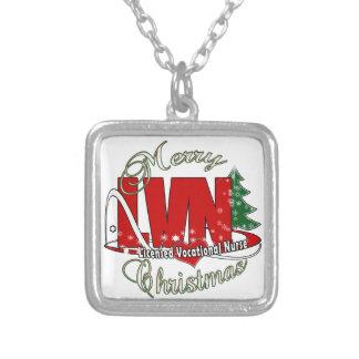 LVN CHRISTMAS Licensed Vocational Nurse Personalized Necklace