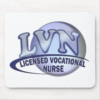 LVN Fun Blue Logo LICENSED VOCATIONAL NURSE Mouse Pad