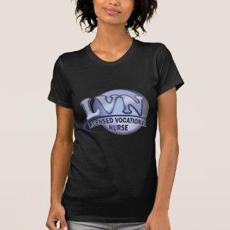 LVN Fun Blue Logo LICENSED VOCATIONAL NURSE Tees