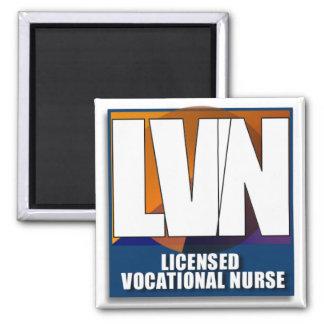 LVN LICENSED VOCATIONAL NURSE LOGO MAGNET
