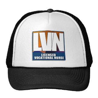 LVN LICENSED VOCATIONAL NURSE LOGO TRUCKER HAT