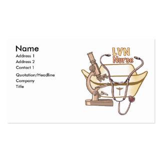 LVN Nurse Collage Business Card