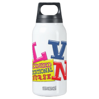 LVN NURSE MEDICAL ACRONYM WHIMSICAL COLORFUL INSULATED WATER BOTTLE