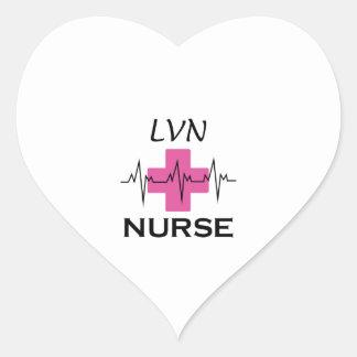 LVN NURSE HEART STICKER