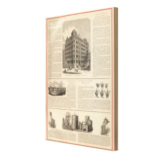 LW Lawrence and Bankers Birmingham Iron Canvas Print