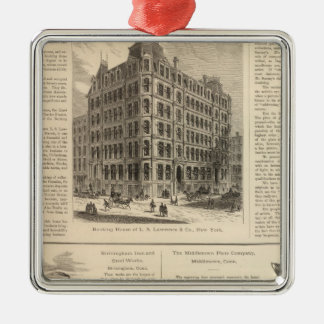 LW Lawrence and Bankers Birmingham Iron Ornament