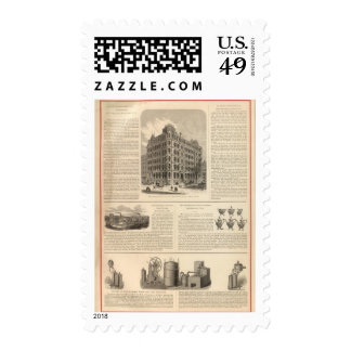 LW Lawrence and Bankers Birmingham Iron Postage Stamp