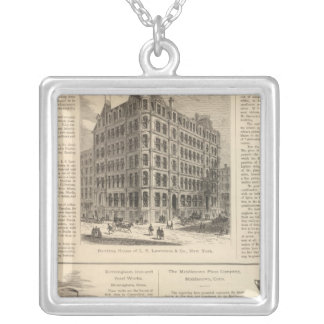 LW Lawrence and Bankers Birmingham Iron Silver Plated Necklace