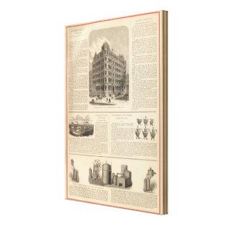 LW Lorenzo e hierro de Birmingham de los banqueros Impresión En Lienzo