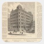 LW Lorenzo e hierro de Birmingham de los banqueros Pegatina Cuadrada