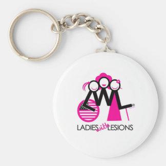 LWLStateside Basic Round Button Keychain