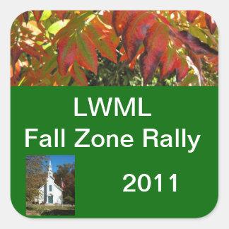 LWML Zone Rally sample 3 Square Sticker
