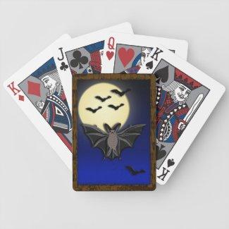 LWood Bat Bicycle Playing Cards