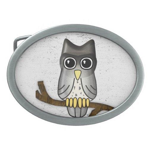 Lwood Owl Belt Buckle