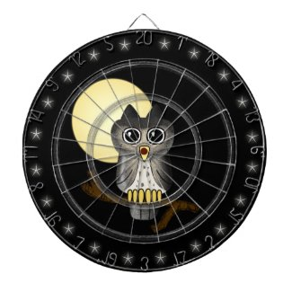 Lwood Owl Cute Custom Dart Board