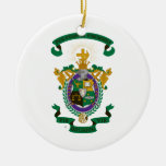 LXA Coat of Arms Double-Sided Ceramic Round Christmas Ornament